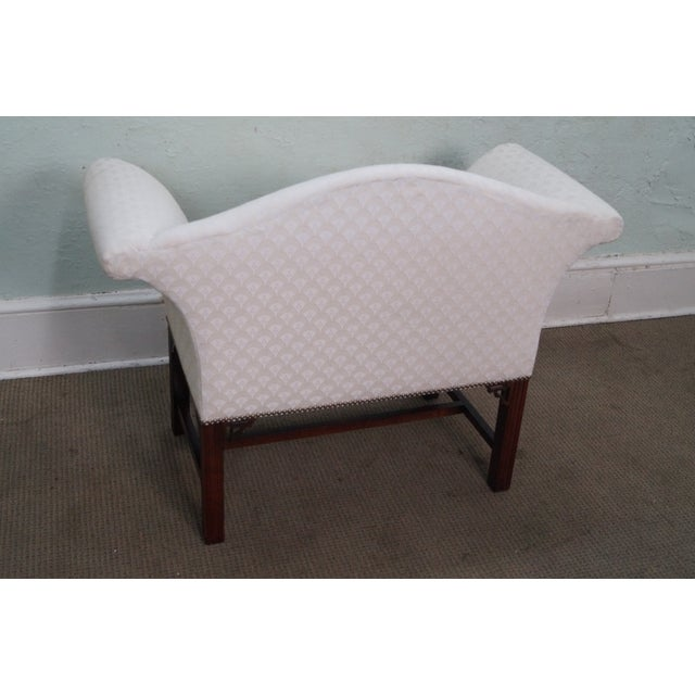 Chippendale-Style Settee Bench For Sale - Image 4 of 8