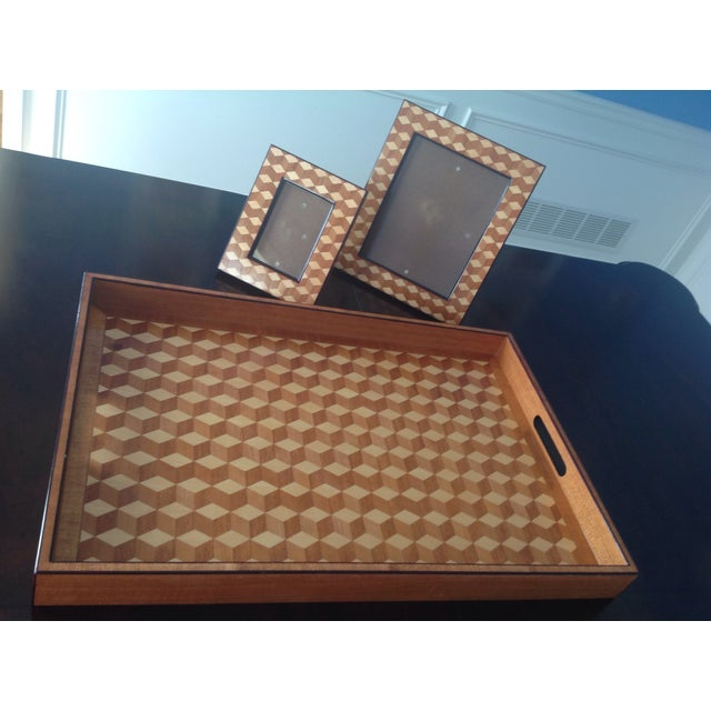 Williams Sonoma Home, Tray & Photo Frames - 3 - Image 2 of 10