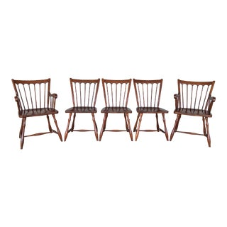 Pennsylvania House Solid Cherry Windsor Style Dining Chairs - Set of 5