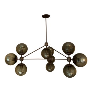 Vintage Jason Miller for Roll & Hill Modo Chandelier For Sale