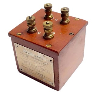Vacuum Thermocouple Circa Early 20th Electrical Device. Display As Sculpture For Sale