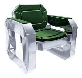 Image of Aluminum Club Chairs