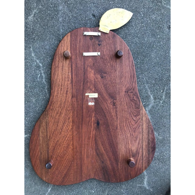 1960s Teak Apple Shaped Cutting Board For Sale - Image 5 of 6