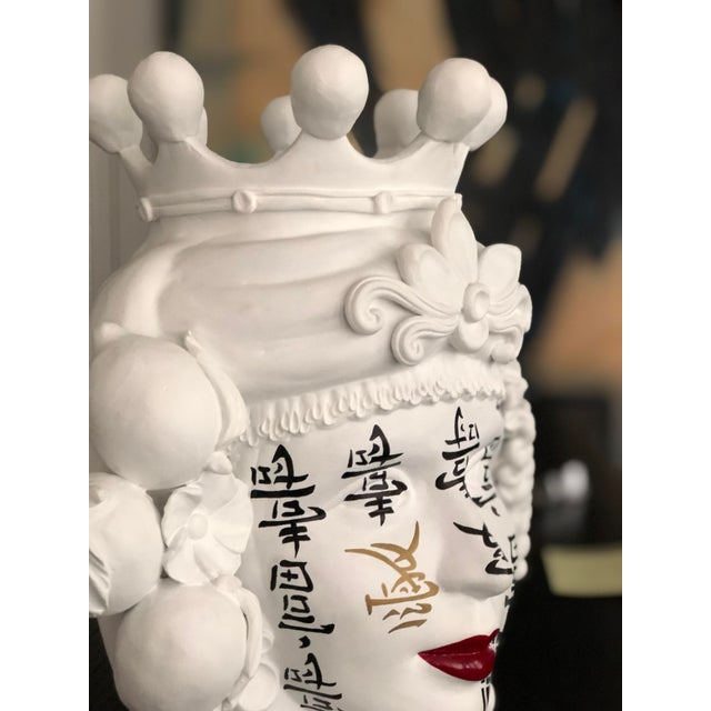 White Contemporary Ceramic Vase by Artist Stefanie Boemhi For Sale - Image 8 of 11