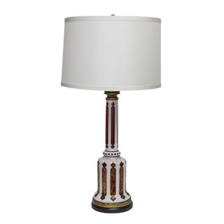 Bohemian Glass Table Lamp For Sale