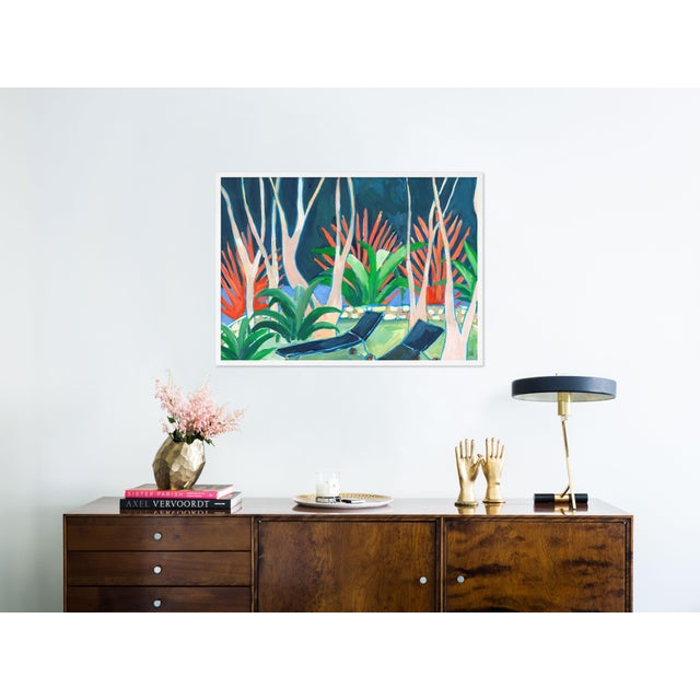 Contemporary Stargazer by Lulu DK in White Framed Paper, Medium Art Print For Sale - Image 3 of 4