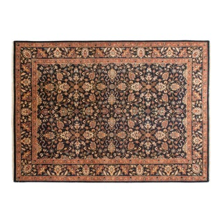 Vintage Indian Yezd Design Carpet - 10' X 14' For Sale