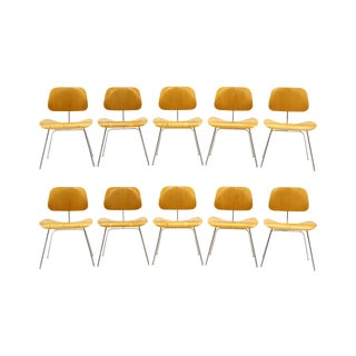 Eames Dining or Conference Room Chairs, DCMs, Set of Ten for Herman Miller For Sale
