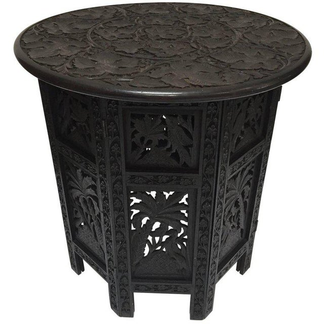 Anglo-Indian Fine Quality Exotic Pierced Hand-Carved Octagonal Table For Sale - Image 11 of 11