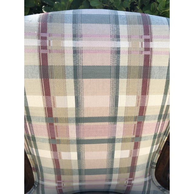 Early 20th Century Antique Eastlake Plaid Upholstered Side Chair For Sale - Image 5 of 13