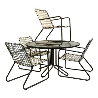 Mid Century Modern Vintage Brown Jordan Lido Patio Dining - Set of 5 Pieces For Sale