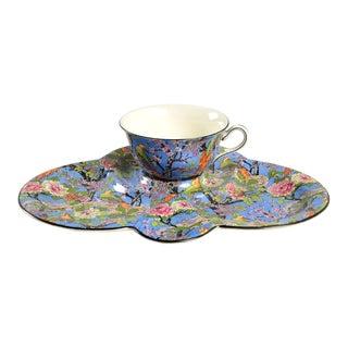 Crown Ducal Blue Chintz Tea & Toast Set For Sale