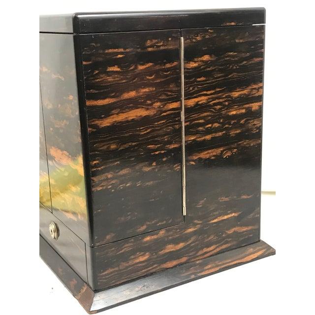Late 19th Century Coromandel Wood Victorian Locking Decanter Box Tantalus Circa 1870s For Sale - Image 5 of 13