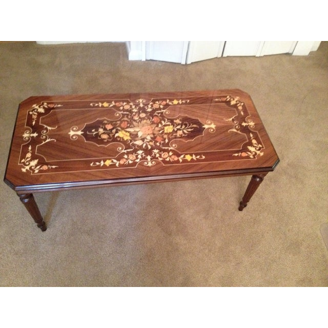 Italian Vintage Inlay Coffee Table For Image 3 Of 5
