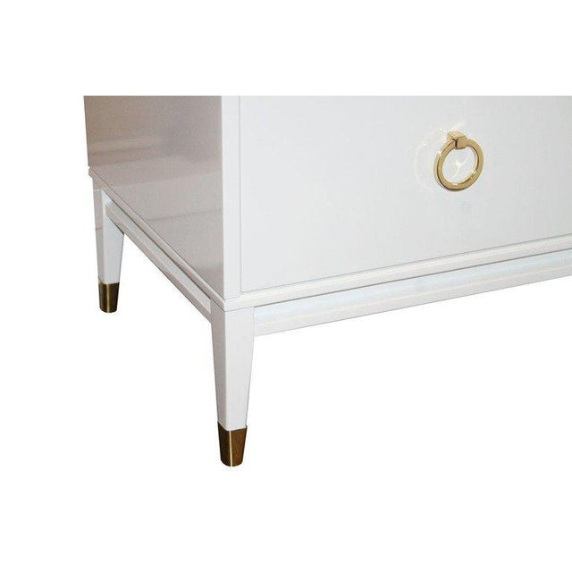 Brass Customizable Spencer Marble-Top Night Tables For Sale - Image 7 of 7