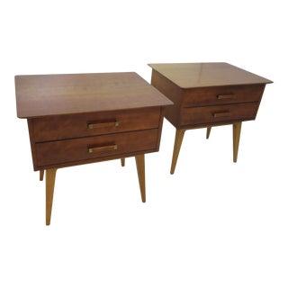 Renzo Rutili Night Stands by Johnson Furniture Company