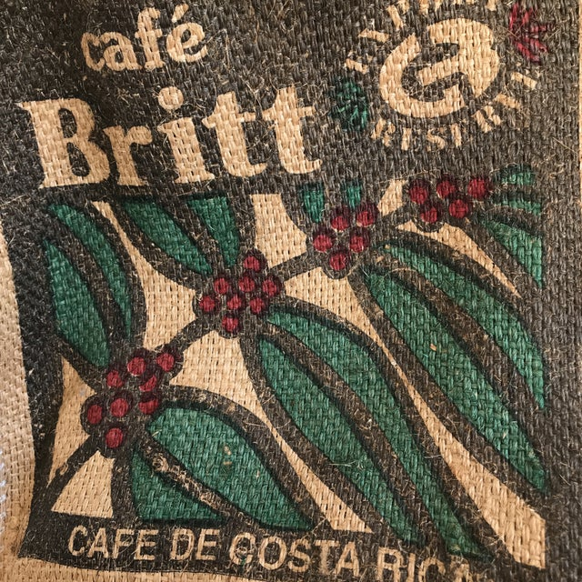 Jute Burlap Coffee Bean Market Tote For Sale - Image 4 of 7