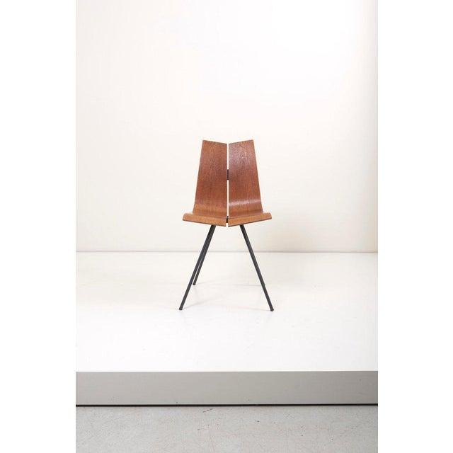 "Set of matched eight ""GA"" Chairs by Hans Bellmann for Horgen-Glarus, Switzerland, 1950s."