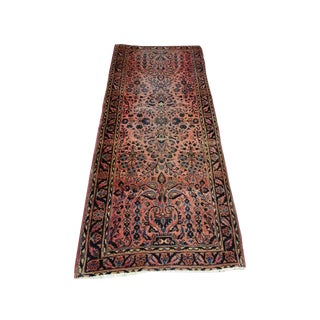 Early 20th Century Antique Persian Sarouk Rug - 2′6″ × 6′6″