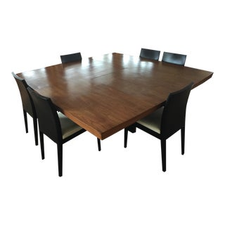 Contemporary Wood Dining Set