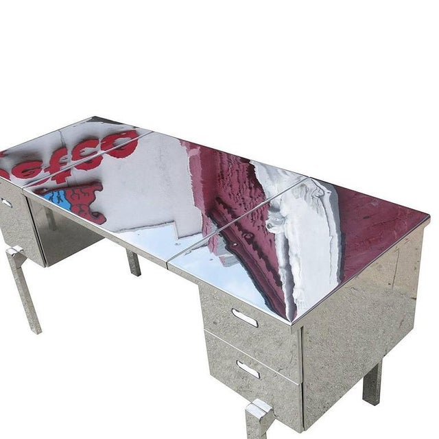 Polished Aluminium WWII Campaign Desk For Sale - Image 10 of 10