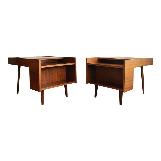 Vintage Milo Baughman Side Tables for Glenn of California- Set of 2 For Sale