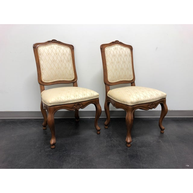 Farmhouse Baker French Country Dining Side Chairs - Pair 1 For Sale - Image 3 of 12