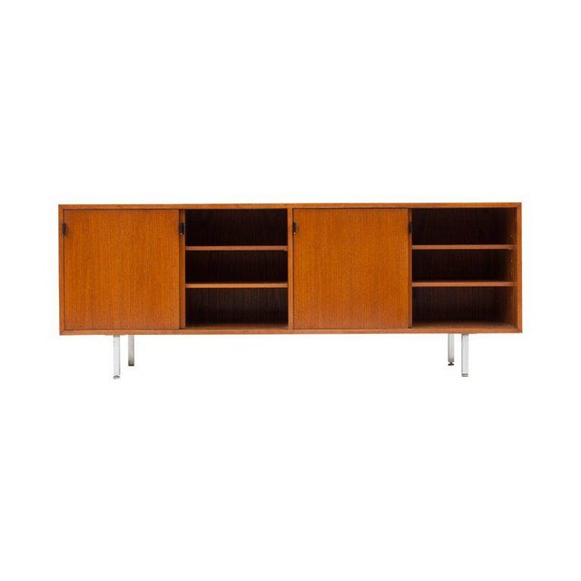Modern Modern Credenza in Teak by Florence Knoll, Manufactured by De Coene, 1950s For Sale - Image 3 of 11