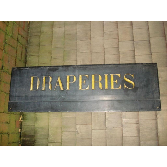 19th Century French Textile Shop Sign in Gilded Black Slate - Image 5 of 5