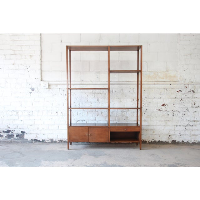 Offering a rare and exceptional Mid-Century Modern wall unit or room divider designed by Paul McCobb for his iconic...