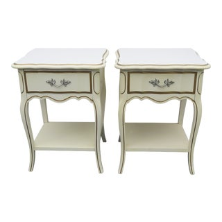 French Painted Nightstands Side Tables by Dixie - a Pair For Sale
