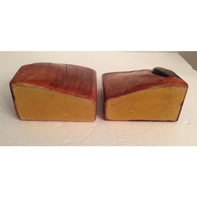 Live Edge Organic Wood Bookends - a Pair For Sale - Image 10 of 13