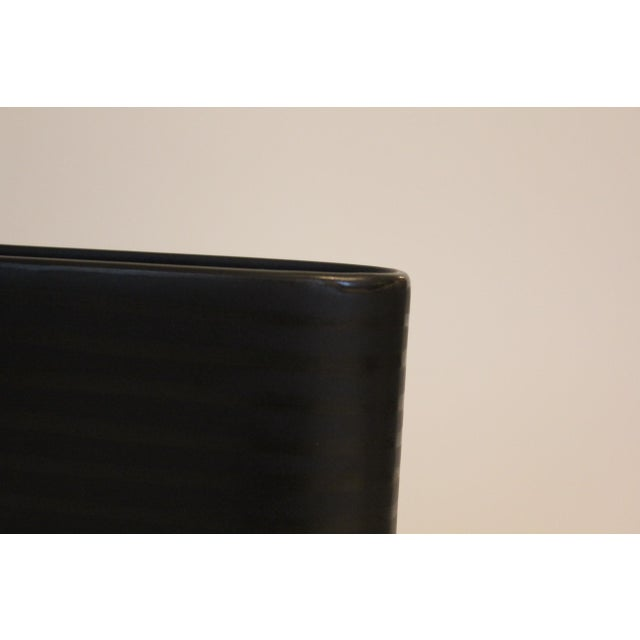 Modern Terrance Conran Black Narrow Oval Vase For Sale - Image 3 of 4