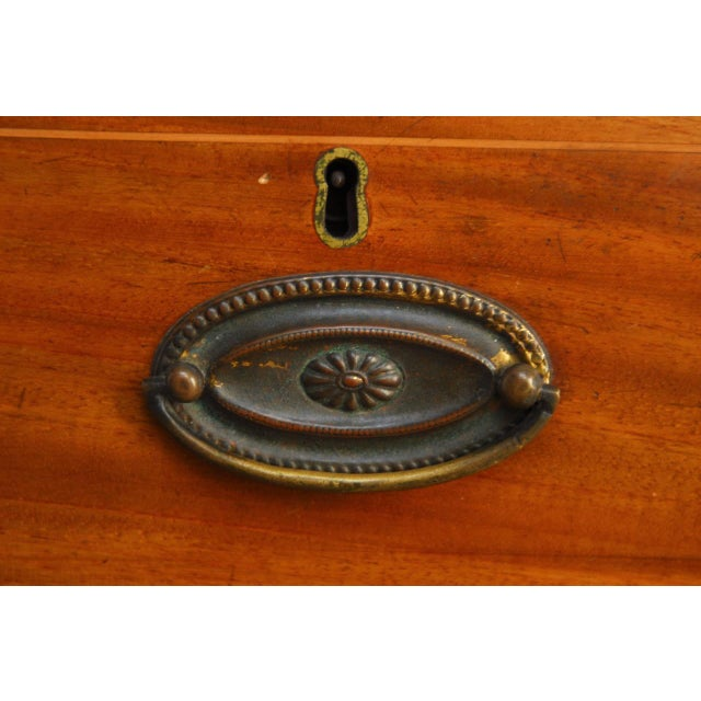 Brown 19th Century George III Mahogany Chest of Drawers For Sale - Image 8 of 12