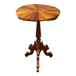 19th Century Tobagonian Specimen Wood Tripod Table Made for 1885 Exhibit
