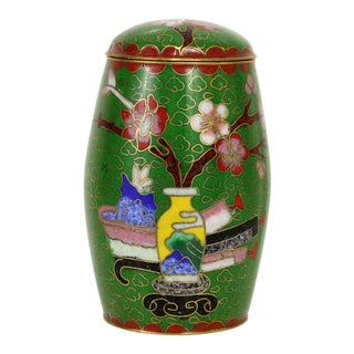 Asian Cloisonné Jar For Sale