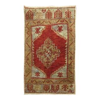 Red Vintage Turkish Tribal Rug, 1'9'' X 2'11'' For Sale