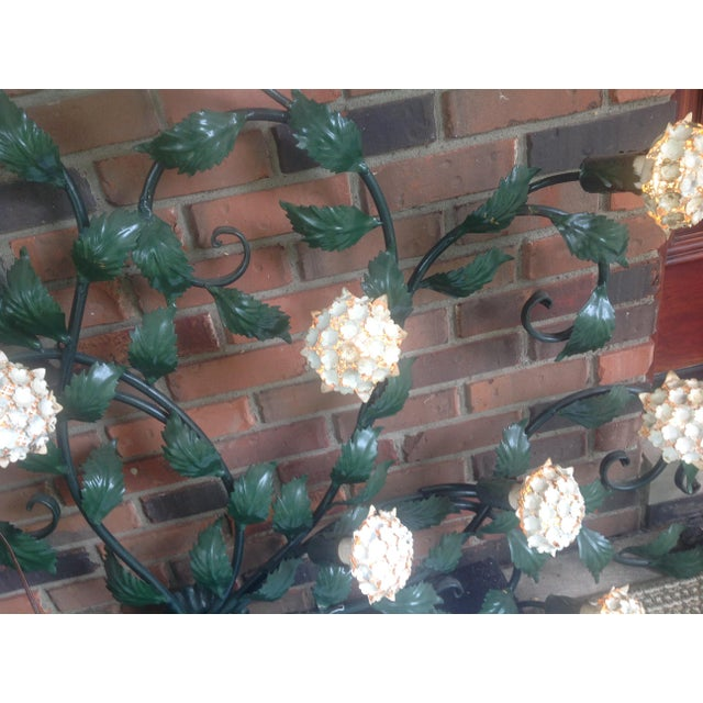 Mid-Century Metal Hydrangea Sconce For Sale - Image 10 of 11