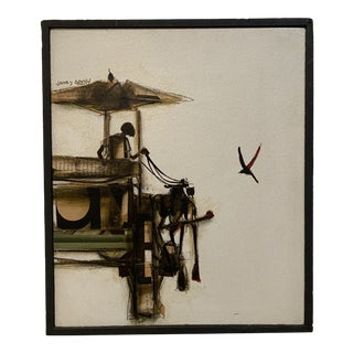 Mixed Media Painting James Groody, Framed For Sale