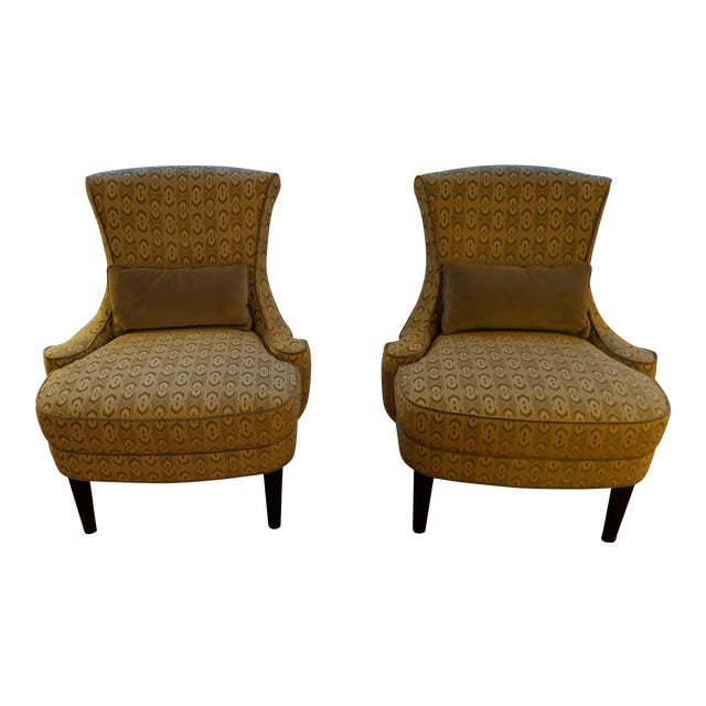 Art Deco-Inspired Accent Chairs by Thomasville - A Pair For Sale