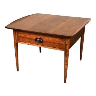 Bassett Artisan Mid-Century Modern Walnut Side Table For Sale