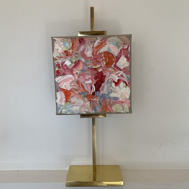 Abstract Oil Painting on Gold Adjustable Easel For Sale - Image 13 of 13