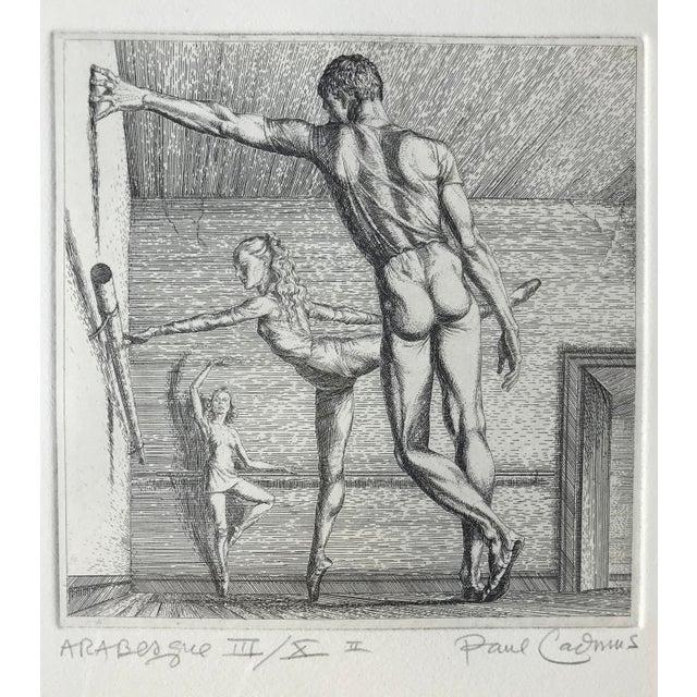 Paper Paul Cadmus Arabesque Etching For Sale - Image 7 of 7