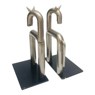 """Horse Bookends"" Walter Von Nessen Design for Chase 1932 - a Pair For Sale"