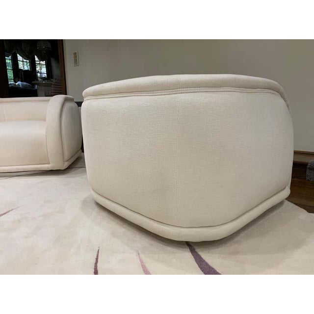 Vladimir Kagan Style Directional Swivel Club Chairs - a Pair For Sale In Philadelphia - Image 6 of 7