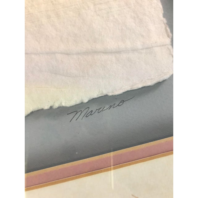 I thought this was a great little hand embossed paper piece signed Marino. It features a soft '80s color palate with...