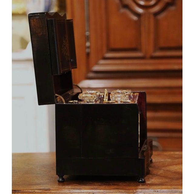 19th Century French Napoleon III Mahogany and Bronze Inlaid Liquor Box For Sale - Image 11 of 13