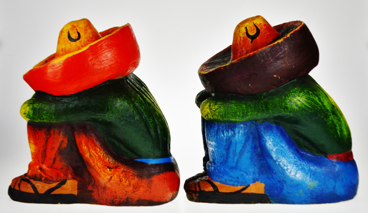 Vintage Ceramic Sleeping Mexican Garden Statues   A Pair   Image 3 Of 13