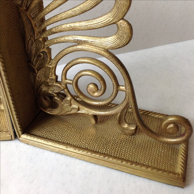 Antique Brass Radius Bookends - A Pair - Image 5 of 11