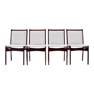 Dining Chairs, Danish Modern Rosewood For Sale